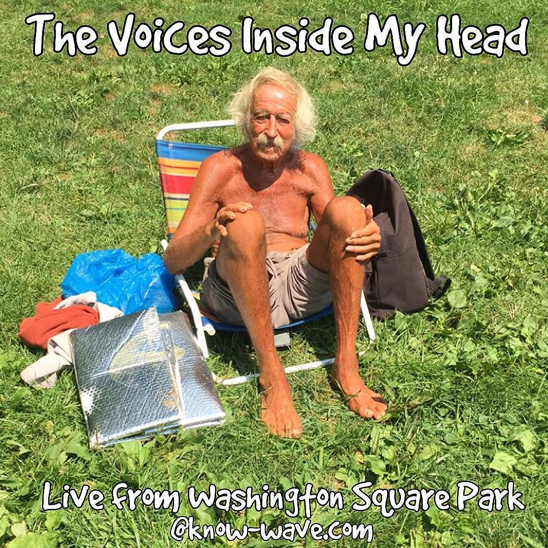 The Voices Inside My Head is back and live from washington sq park. Here til 230 come say hello