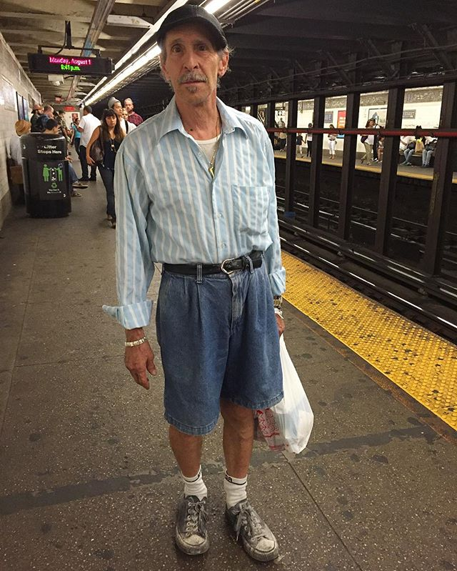 Pleated denim shorts he bought in Brooklyn years ago. You telling me pal...