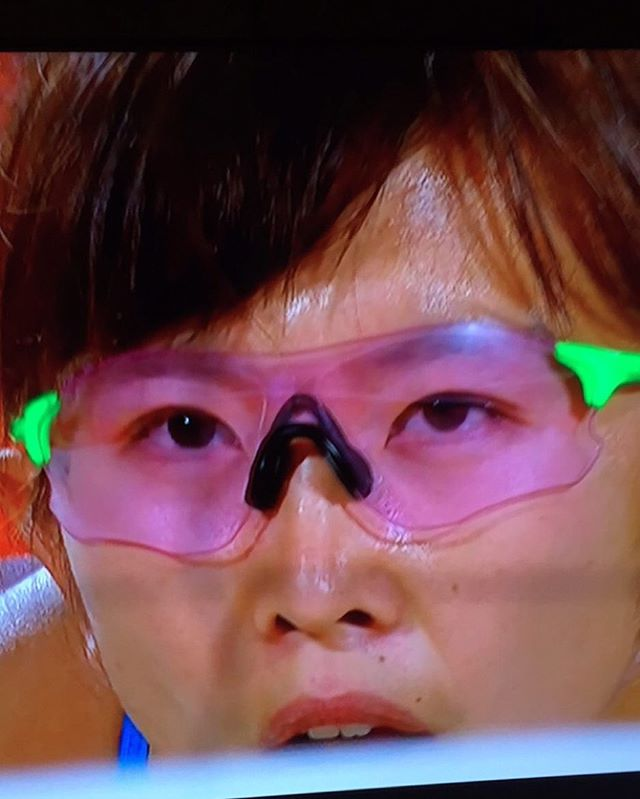 She's got the greatest glasses in the lympics so far ?