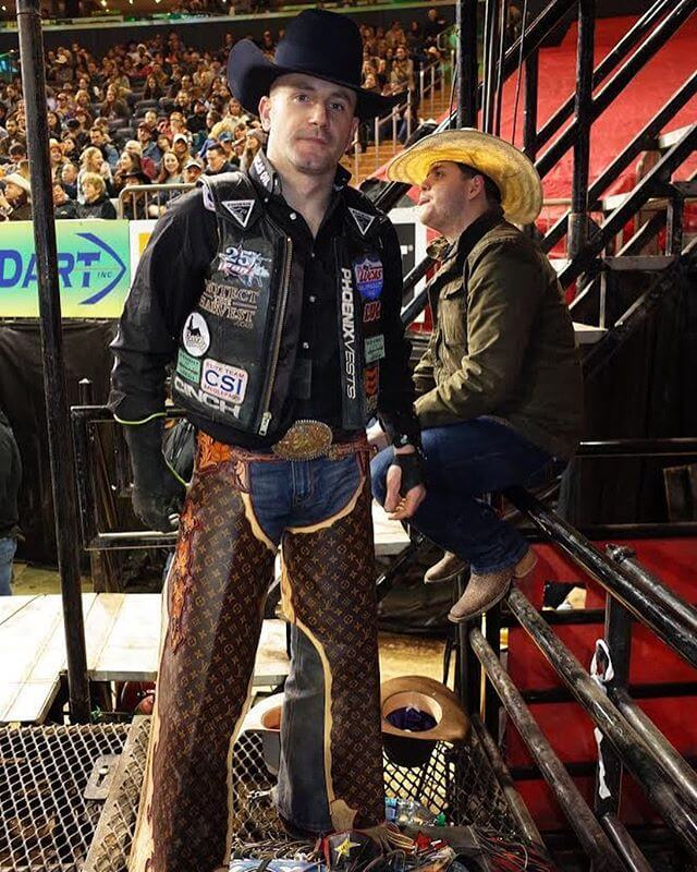 You should really cruise over to gq.com to see the rest of my rodeo photos. This is a world champion bull rider right here. Not a rodeo clown and not some fashion victim.