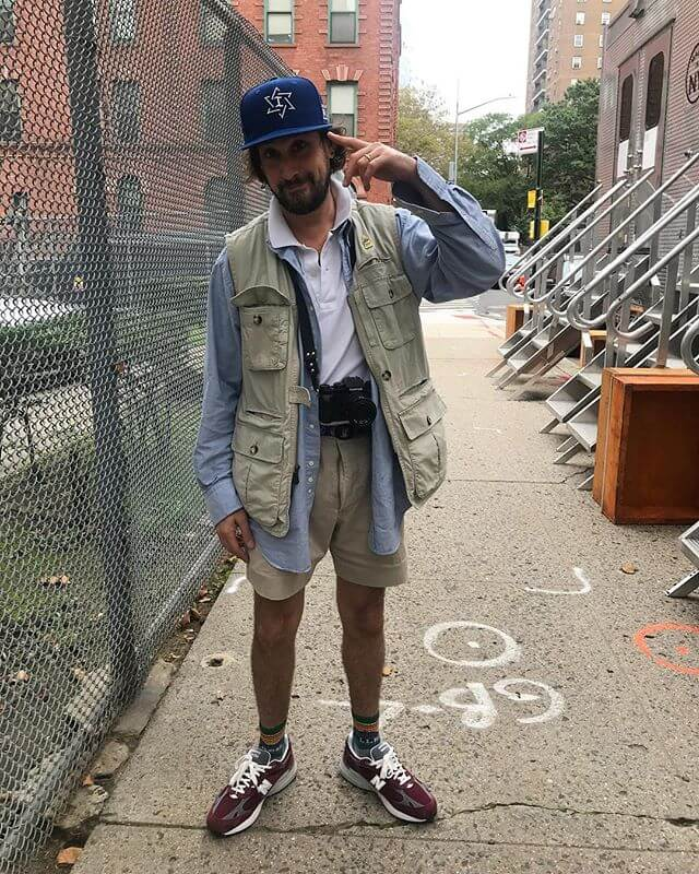 ...THINK YIDDISH  Captured by my Personal On-Set Photographer @embeeez  Editors Note: My fly is not open, it's just a 20? yr old pair of shorts with a fly seam problem