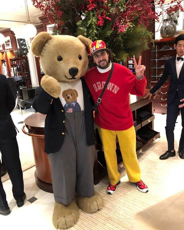 Super cool to be in Tokyo when RL reopened their store! Not sure of this teddy's name, but I think he's the High Waisted Executive On International Business Bear Editors Note: Sweatshirt can get a bit too long when wearing all day. I wash each wear (most the time) but it can get a tad stretched end of day)